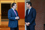 The President of the Government of Spain, Mariano Rajoy (l), meets with the Secretary General of the PSOE (Spanish Socialist Workers Party) Pedro Sanchez. July 6, 2017. (ALTERPHOTOS/Acero)