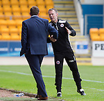 St Johnstone v Stirling Albion…30.07.16  McDiarmid Park. Betfred Cup<br /> Stuart McLaren and Tommy Wright shake hands at full time<br /> Picture by Graeme Hart.<br /> Copyright Perthshire Picture Agency<br /> Tel: 01738 623350  Mobile: 07990 594431