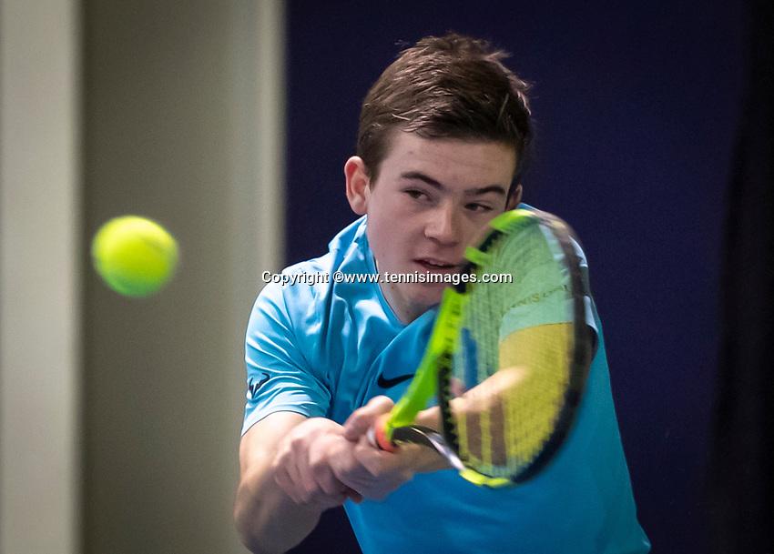 Hilversum, Netherlands, December 2, 2018, Winter Youth Circuit Masters, Daniel Verbeek (NED)<br /> Photo: Tennisimages/Henk Koster
