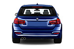Straight rear view of a 2018 BMW 3 Series Touring 330i xDrive 5 Door Wagon stock images