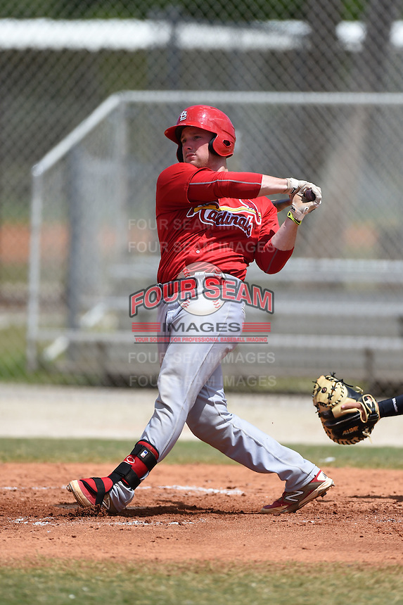St. Louis Cardinals Brian O'Keefe (33) during a minor league spring training game against the New York Mets on April 1, 2015 at the Roger Dean Complex in Jupiter, Florida.  (Mike Janes/Four Seam Images)