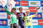 Sacha Modolo (ITA) Lampre-Merida wins Stage 5 of the 2015 Presidential Tour of Turkey running 159.9km from Mugla to Pamukkale, with Carlos Barbero (ESP) Caja Rural-Seguros RGA in 2nd place and Jay McCarthy (AUS) Tinkoff-Saxo in 3rd. 30th April 2015.<br /> Photo: Tour of Turkey/Mario Stiehl/www.newsfile.ie
