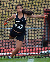 Mikayla Sola competes in the women's discus. 2021 Capital Classic athletics at Newtown Park in Wellington, New Zealand on Saturday, 20 February 2021. Photo: Dave Lintott / lintottphoto.co.nz