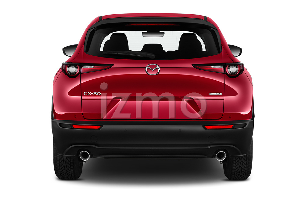 Straight rear view of a 2020 Mazda CX 30 Skydrive-Lux 5 Door SUV stock images