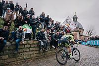 charging up the infamous Kapelmuur<br /> <br /> 74th Omloop Het Nieuwsblad 2019 <br /> Gent to Ninove (BEL): 200km<br /> <br /> ©kramon