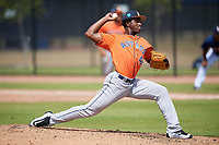Houston Astros pitcher Ronel Blanco (44) during a Minor League Spring Training Intrasquad game on March 28, 2018 at FITTEAM Ballpark of the Palm Beaches in West Palm Beach, Florida.  (Mike Janes/Four Seam Images)