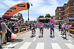 The start of Stage 7 of the 2021 Giro d'Italia, running 181km from Notaresco to Termoli, Italy. 14th May 2021.  <br /> Picture: LaPresse/Gian Mattia D'Alberto | Cyclefile<br /> <br /> All photos usage must carry mandatory copyright credit (© Cyclefile | LaPresse/Gian Mattia D'Alberto)