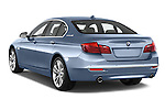 Car pictures of rear three quarter view of a 2015 BMW SERIES 5 ActiveHybrid 5 Luxury 4 Door Sedan Angular Rear