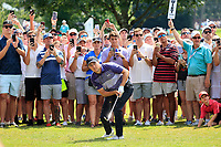 5th September 2021: Atlanta, Georgia, USA;  Jordan Spieth (USA) watches his shot from the out of bounds area on the 8th hole during the 4th and final round of the TOUR Championship  at the East Lake Club in Atlanta, Georgia.