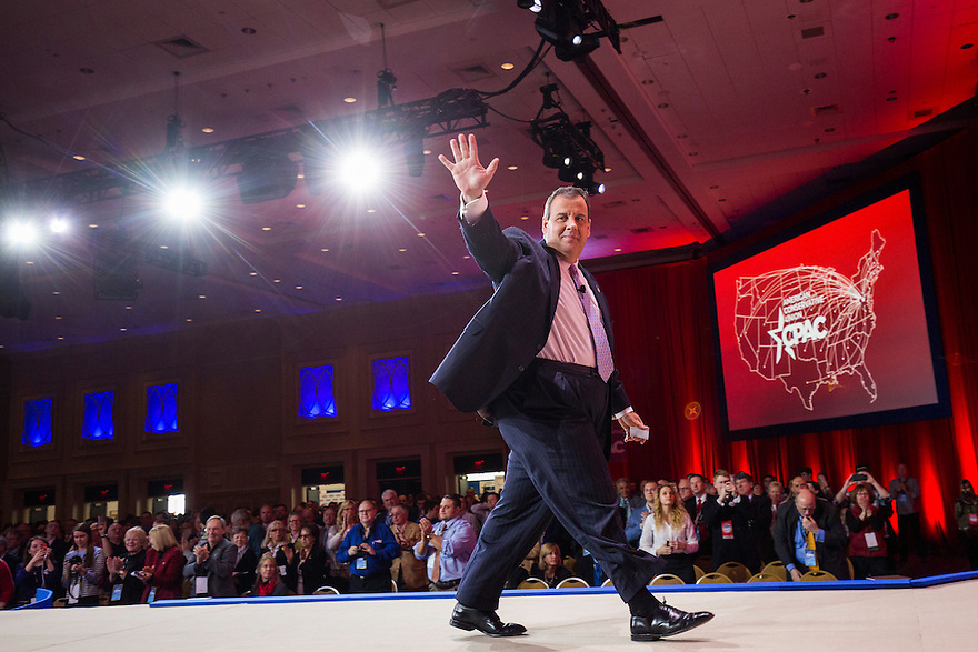 NJ Governor Chris Christie speaks at the 2015 Conservative Political Action Conference (CPAC) outside Washington, DC