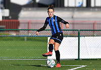 Brugge's Charlotte Laridon pictured during a female soccer game between the women teams of Club Brugge YLA Dames and Union Saint-Ghislain Tertre-Hautrage Ladies on the 1/16 th qualifying round for the Belgian Womens Cup 2020  2021 , on saturday 26 th of September 2020  in Brugge , Belgium . PHOTO SPORTPIX.BE | SPP | DAVID CATRY