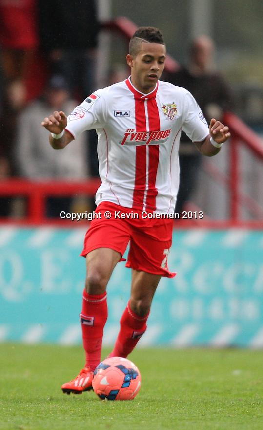 Bruno Andrade of Stevenage (on loan from QPR)<br />  - Stevenage v Portsmouth - FA Cup 1st Round  - Lamex Stadium, Stevenage - 9th November, 2013<br />  © Kevin Coleman 2013