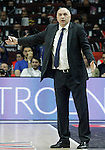 Real Madrid's coach Pablo Laso during Euroleague Final Match. May 15,2015. (ALTERPHOTOS/Acero)
