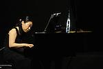 April 28, 2013, Surabaya, Indonesia - .Kanako Inoue, Japanese pianist, performing in classical music concert title Around the World, collaborating with Pieternel Berkers (Dutch accordion) and Bernadeta Astari (Indonesian soloist) at Cak Durasim building. (Photo by Robertus Pudyanto/AFLO)