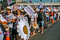 Manifestaçao Marcha das Margaridas. Brasília. Distrito Federal. 2015. Foto de Sergio Amaral.