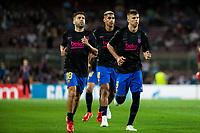 14th September 2021: Nou Camp, Barcelona, Spain: ECL Champions League football, FC Barcelona versus Bayern Munich: Barcelona warm up