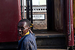 John Kiarie, a brakeman in the rail yard of Nairobi Railways Station.