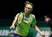 Rotterdam, Netherlands, 10 februari, 2018, Ahoy, Tennis, ABNAMROWTT, Qualifying, Stefanos Tsitsipas (GRE)<br /> Photo: Henk Koster/tennisimages.com