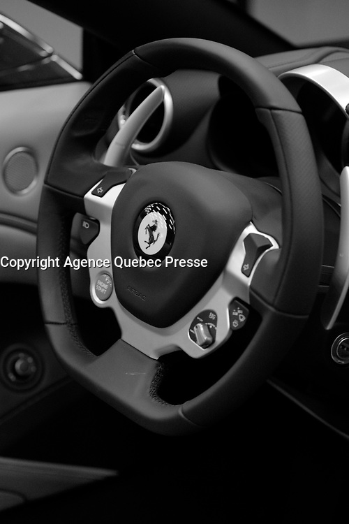 FERRARI<br /> 2016 model at Montreal car show. January 15, 2016<br /> <br /> Photo : Pierre Roussel - Agence Quebec Presse<br /> <br /> <br /> <br /> <br /> <br /> <br /> <br /> <br /> <br /> <br /> <br /> .