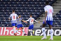 30th April 2021; Dragao Stadium, Porto, Portugal; Portuguese Championship 2020/2021, FC Porto versus Famalicao; Toni Martinez of FC Porto celebrates his goal with Mehdi Taremi in the 8th minute 1-0