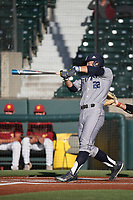 Keston Hiura (22) of the UC Irvine Anteaters bats against the Southern California Trojans at Dedeaux Field on April 18, 2017 in Los Angeles, California. UC Irvine defeated Southern California, 14-3. (Larry Goren/Four Seam Images)