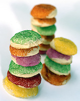 Stacked Colored Sugar Cookies