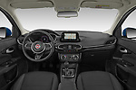 Stock photo of straight dashboard view of 2021 Fiat Tipo Life 5 Door Hatchback Dashboard