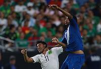 Carlos Vela  de Mexico y Wilson Lalin de Guatemala  ,durante partido entre las selecciones de Mexico y Guatemala  de la Copa Oro CONCACAF 2015. Estadio de la Universidad de Arizona.<br /> Phoenix Arizona a 12 de Julio 2015.
