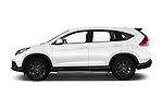 Car Driver side profile view of a 2014 Honda CR-V Lifestyle 5 Door Suv Side View