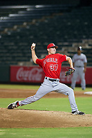 AZL Angels relief pitcher Nick Andress (37) delivers a pitch during a game against the AZL Indians on August 7, 2017 at Tempe Diablo Stadium in Tempe, Arizona. AZL Indians defeated the AZL Angels 5-3. (Zachary Lucy/Four Seam Images)