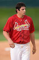 Richard Racobaldo #11 of the Johnson City Cardinals at Howard Johnson Field August 1, 2009 in Johnson City, Tennessee. (Photo by Brian Westerholt / Four Seam Images)