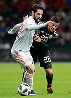 Spain's Isco Alarcon (l) and Argentina's Fabricio Bustos during international friendly match. March 27,2018.(ALTERPHOTOS/Acero) /NortePhoto.com NORTEPHOTOMEXICO