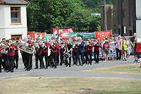 "during ""The Bevan Festival"" celebrating the 70th Anniversary of the National Health Service. <br /> <br /> Tredegar, South Wales, Sunday 1st July 2018 <br /> <br /> <br /> Jeff Thomas Photography -  www.jaypics.photoshelter.com - <br /> e-mail swansea1001@hotmail.co.uk -<br /> Mob: 07837 386244 -"