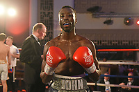 John Harding Jr defeats Kristaps Zulgis during a Boxing Show at the Dunstable Conference Centre on 7th March 2020