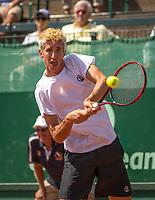The Hague, Netherlands, 17 July, 2017, Tennis,  The Hague Open, Yannick Mertens (BEL)<br /> Photo: Henk Koster/tennisimages.com
