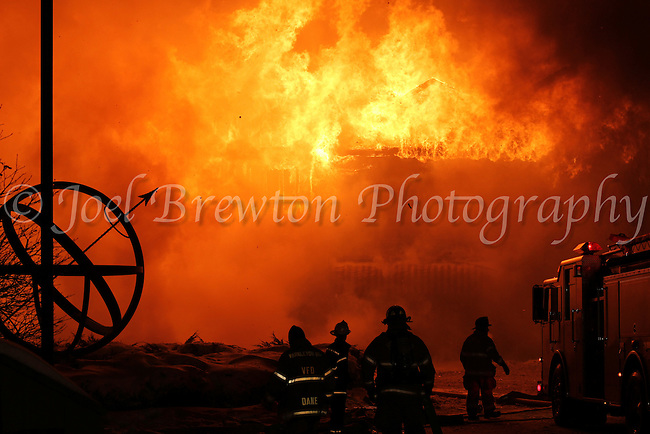The Sundial Ski Lodge at Nemacolin Woodlands Resort, Farmington, Pa., burned to the ground Sunday evening despite the efforts of 15 fire departments from four counties that were called to the scene.
