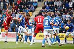 22.09.2019 St Johnstone v Rangers: Connor Goldson heads in goal no 2 for Rangers