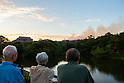 Fire at Shurijo Castle in Okinawa