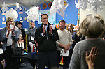 Gov. Brian Sandoval, center, and other voters applaud volunteers before the start of the Republican caucus at Caughlin Ranch Elementary School in Reno, Nev. on Tuesday, Feb. 23, 2016. Cathleen Allison/Las Vegas Review-Journal