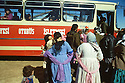 Turkey 1991.Departure to France for a group of Iraqi Kurds in the camp near Mardin