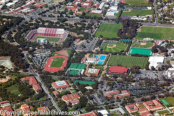 aerial photograph Stanford University, Palo Alto, California