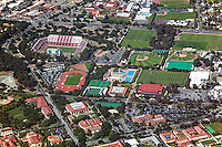 aerial photograph Stanford University, Palo Alto, California