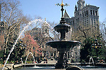FOUNTAIN IN LOWER MANHATTAN