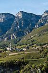 Italy, Alto Adige - Trentino (South Tyrol); Cortaccia sulla Strada del Vino: wine village | Italien; Suedtirol; Kurtatsch an der Weinstrasse: Weindorf