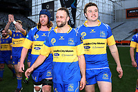 Taieri players following the Dunedin Premier club rugby final between Green Island and Taieri played at Forsyth Barr Stadium in Dunedin, on Saturday 31st July, 2021. © John Caswell/Caswell Images