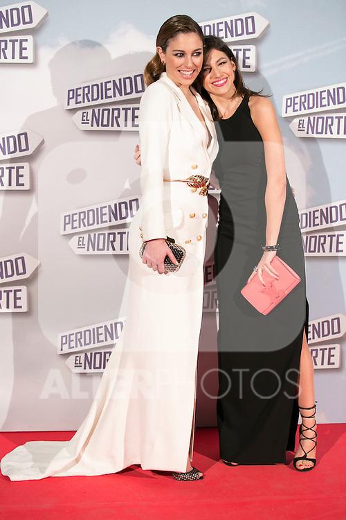 """Ursula Corbero and Blanca Suarez attend the """"Perdiendo El Norte"""" Movie Premiere at Capitol Cinema, Madrid,  Spain. March 05, 2015.(ALTERPHOTOS/)Carlos Dafonte)"""
