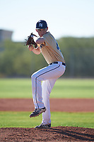 Dustin Parkinson (49), from Rexburg, Idaho, while playing for the Brewers during the Under Armour Baseball Factory Recruiting Classic at Red Mountain Baseball Complex on December 28, 2017 in Mesa, Arizona. (Zachary Lucy/Four Seam Images)