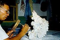 Sculpting a jade piece