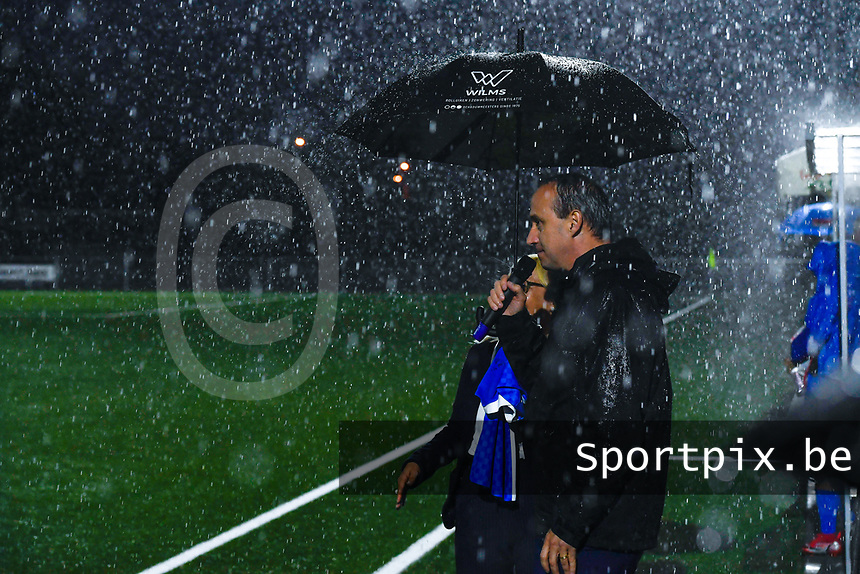 mayor Wim Dries pictured before a female soccer game between  Racing Genk Ladies and Sporting du pays de Charleroi on the fourth matchday of the 2021-2022 season of the Belgian Scooore Womens Super League , friday 10 September 2021  in Genk , Belgium . PHOTO SPORTPIX | STIJN AUDOOREN