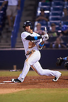 Tampa Yankees shortstop Gleyber Torres (11) at bat during a game against the Daytona Tortugas on August 5, 2016 at George M. Steinbrenner Field in Tampa, Florida.  Tampa defeated Daytona 7-1.  (Mike Janes/Four Seam Images)